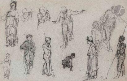 Adolphe APPIAN (Lyon 1818 - 1898)  Feuille...