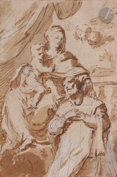 ÉCOLE BOLONAISE du XVIIe siècle  Saint Philippe...