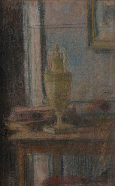 George DESVALLIÈRES (Paris 1861 - 1950)  Vase...