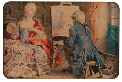 Maurice LELOIR ((Paris 1853 - 1940) et Narcisse...