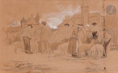 Louis APPIAN (Lyon 1862 - 1896)  Scène de...