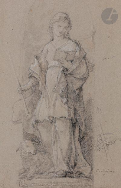 Charles-Joseph NATOIRE (Nîmes 1700 - Castel Gandolfo 1777)  Étude pour le tableau...