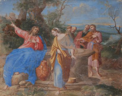 ÉCOLE FRANÇAISE du XVIIIe siècle  Le Christ...