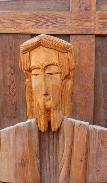 Roger DESSERPRIT (1923-1985)  Tête du Christ,...