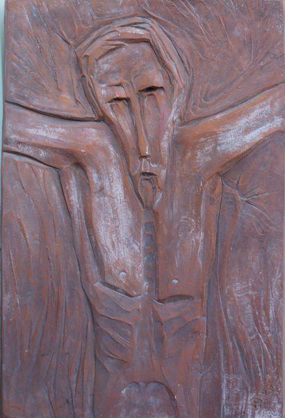 Roger DESSERPRIT (1923-1985)  Christ en croix,...