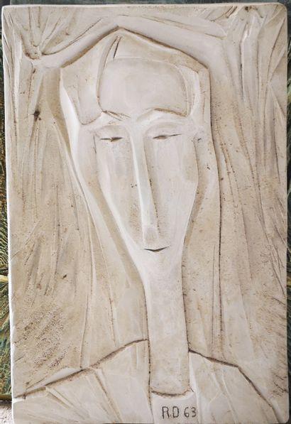 Roger DESSERPRIT (1923-1985)  Portrait, 1963...