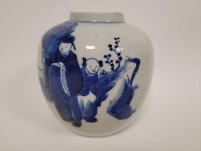 CHINE, XIXe siècle Pot à gingembre en porcelaine...