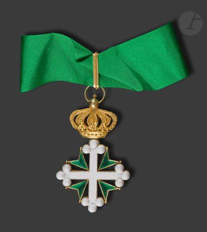 ITALIE ORDRE DE SAINT MAURICE ET LAZARE Croix...