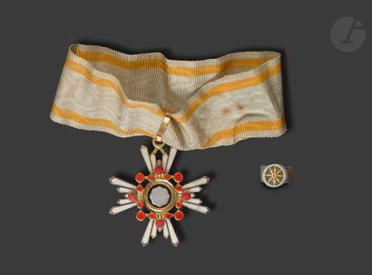 JAPON ORDRE DU TRÉSOR SACRÉ Croix de commandeur...