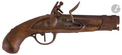 Pistolet à silex de gendarmerie modèle An...