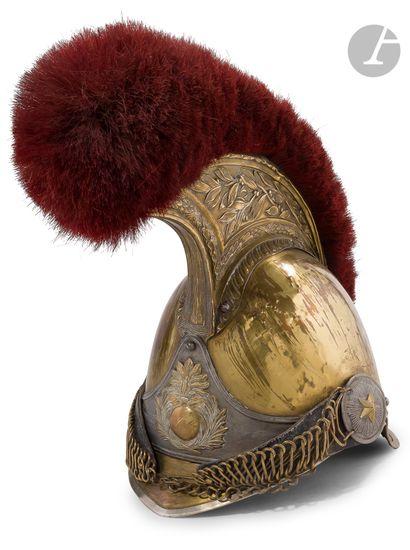 Ensemble casque et cuirasse de carabinier....