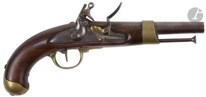 Pistolet d'arçon à silex modèle An XIII....