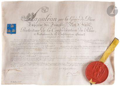 Lettres patentes Brevet de noblesse de Comte...
