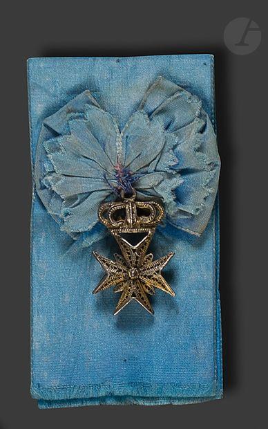 ORDRE DE MALTE Belle croix de Malte sous...