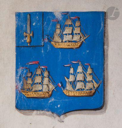 Lettres patentes Brevet de noblesse de Comte de l'Empire au nom du vice-amiral ALLEMAND....