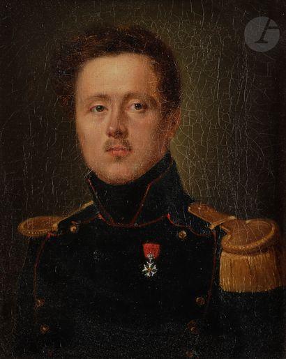 École française, vers 1830. Officier du génie,...