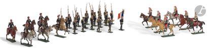 LUCOTTE CBG Ensemble de 33 pièces: 6 artilleurs...