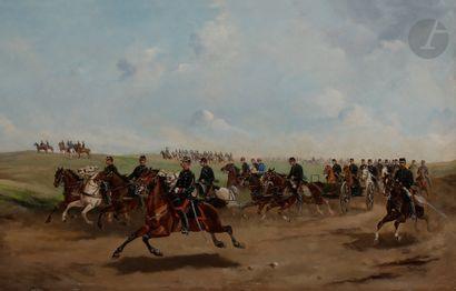 Paul Émile PEYRBOYRE (1826-1919) Artilleurs...