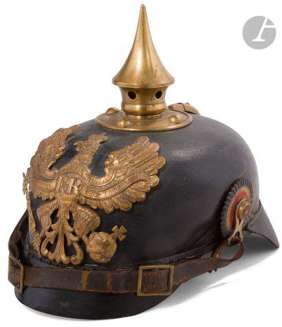 Casque à pointe prussien modèle 1895. Bombe...