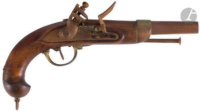 Pistolet d'arçon à silex modèle 1822. Canon...