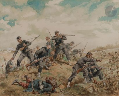 Lucien Pierre SERGENT (1849-1904) Infanterie...