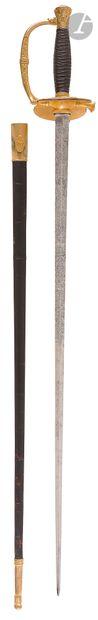 Épée d'officier supérieur modèle 1817 à ciselures, modifiée sous la Monarchie de...