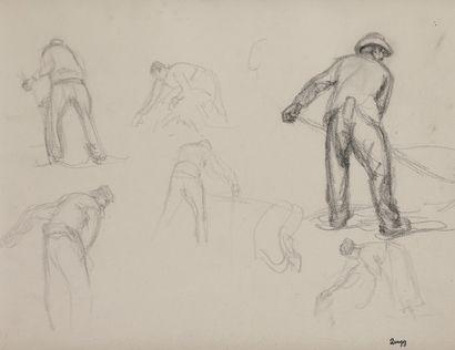 Jules-Emile ZINGG (1882-1942)  Etude de faucheurs...