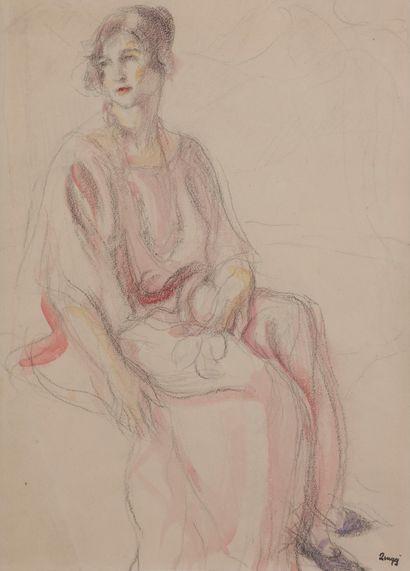 Jules-Emile ZINGG (1882-1942)  Elégante assise...