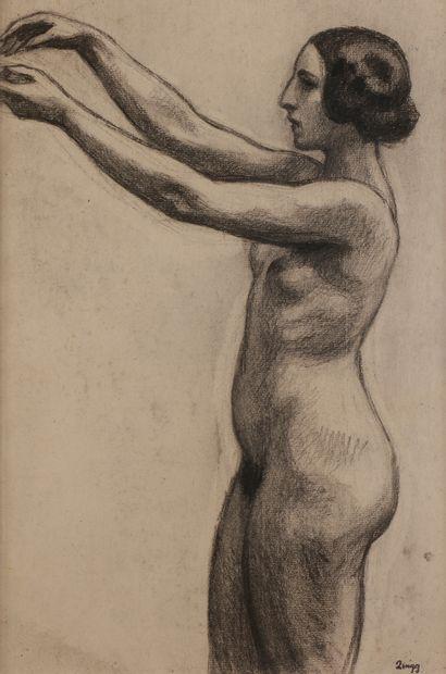 Jules-Emile ZINGG (1882-1942)  Nu aux bras...