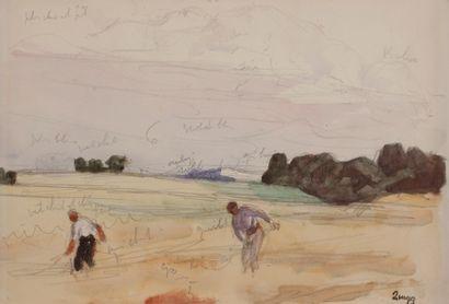 Jules-Emile ZINGG (1882-1942)  Les moissonneurs...