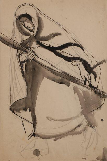Jules-Emile ZINGG (1882-1942)  Femme à la...
