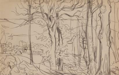 Jules-Emile ZINGG (1882-1942)  Village du...