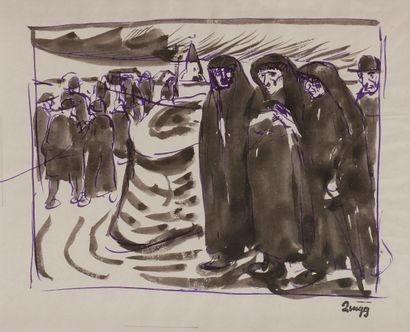 Jules-Emile ZINGG (1882-1942)  La Procession...
