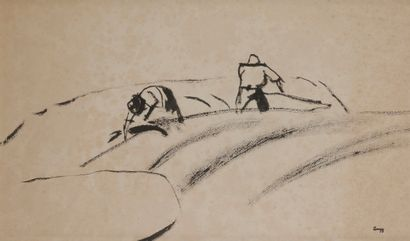 Jules-Emile ZINGG (1882-1942)  Paysans aux...