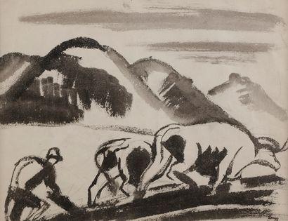 Jules-Emile ZINGG (1882-1942)  Le Labour...
