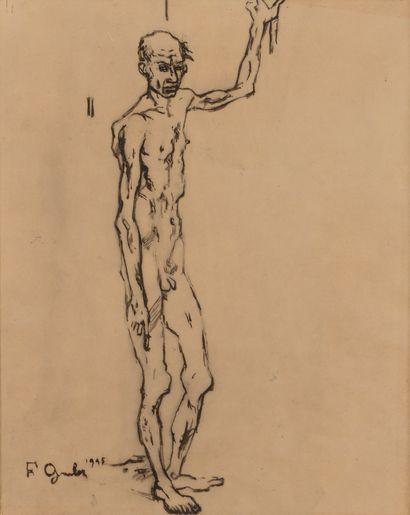 Francis GRUBER (1912-1948) Le Vieux saltimbanque,...