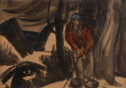 Jules-Emile ZINGG (1882-1942)  Vieillard...