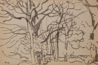 Jules-Emile ZINGG (1882-1942)  Sous-bois...
