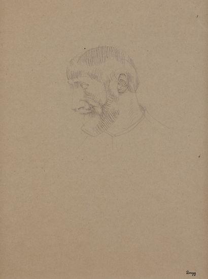 Jules-Emile ZINGG (1882-1942)  Portrait d'homme...