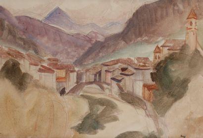 Jules-Emile ZINGG (1882-1942)  Le village...