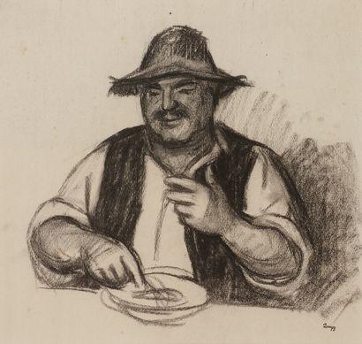 Jules-Emile ZINGG (1882-1942)  Le repas du...