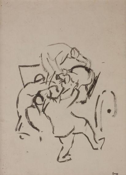 Jules-Emile ZINGG (1882-1942)  La mort du...