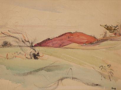 Jules-Emile ZINGG (1882-1942)  Paysage à...