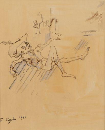 Francis GRUBER (1912-1948) Une Mort héroïque,...