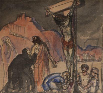 Jules-Emile ZINGG (1882-1942)  La crucifixion...