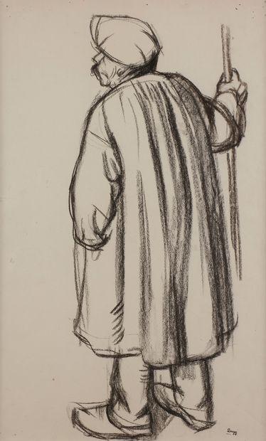 Jules-Emile ZINGG (1882-1942)  Homme au bâton...
