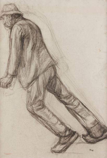 Jules-Emile ZINGG (1882-1942)  Etude de laboureur...