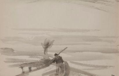 Jules-Emile ZINGG (1882-1942)  Les marais...
