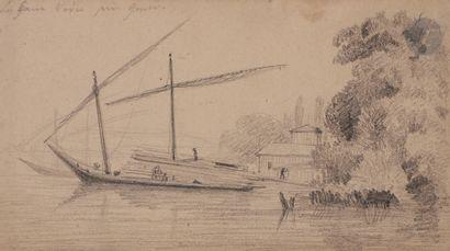 David SUTTER (1811-1880) Paysages 6 mines...