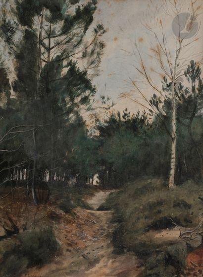 Eugène LACHEURIE (1831 - 1907) Route dans...